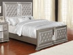 Eastern King Bed (Metallic Platinum)