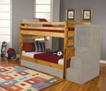 Full/Full Bunk Bed (Not Included Stairway Chest And Underbed Storage)