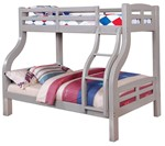 Twin/Full Bunk Bed, Gray