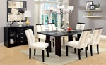 Glass-Insert Dining Table
