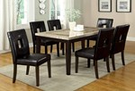 Marble Top Rectangular Dining Table