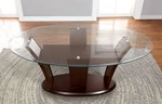 Glass Top Oval Table