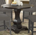 Round Counter Ht. Table, Antique Black