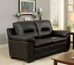 Love Seat, Black Pu