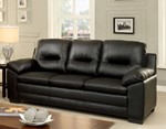 Sofa, Black Pu