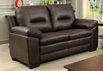 Love Seat, Brown Pu