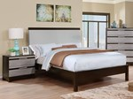 2pc Bedroom Set w/Queen Leatherette Bed
