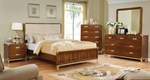 2pc Bedroom Set w/Queen Bed (Fabric Headboard)