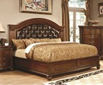 Queen Leatherette Bed