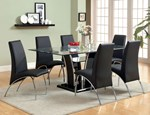 Glass Top Dining Table, Black
