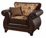 Chair With Pu In Brown