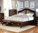 Queen Bed with Footboard Storages