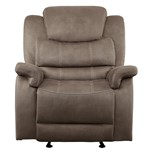 Glider Reclining Chair, Brown 100% Polyester