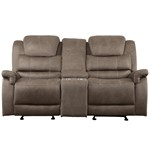 Double Glider Reclining Love Seat With Center