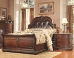 2pc Bedroom Set w/King Leather Bed
