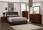 2pc Bedroom Set w/King PU Bed