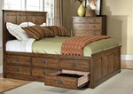 Cal King Bed w/12 Drawer ( 6 drawer - 2 )