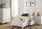 2pc Bedroom Set w/Twin Storage Bed