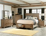 2pc Bedroom Sets w/Queen Panel Bed w/Storage Footboard 5/0