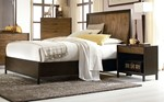 2pc Bedroom Set w/Queen Curved Panel Bed