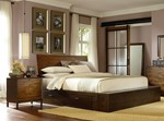 2pc Bedroom Set w/Queen Underbed Storage Drawer  Platform Bed