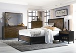 2pc Bedroom Set w/Queen Panel Bed w/Storage Footboard
