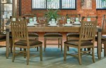 Trestle Table + (4) 240 Splat Back Side Chairs