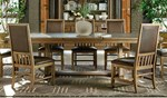 Trestle Table + (4) 440 Upholstered Back Side Chairs