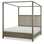 Complete Upholstered Poster Bed, Queen 5/0