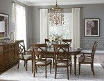 Round Dining Table + (4) 140 Side Chairs + (2) 141 Arm Chairs