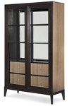 Display Cabinet (2 Sliding Doors w/4 Drawers, 2 Glass Shelves, Plate Grooves, Mirrored Back, Lighted w/3 Way Touch Pad on Inside of Door)