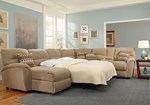 Sleeper Sectional ( LAF Chaise + RAF Double Reclining Console Loveseat )