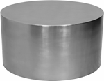 Cylinder Brushed Chrome Coffee Table