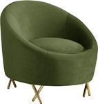 Serpentine Olive Velvet Chair