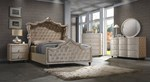 2pc Bedroom Set w/King Canopy Bed