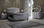 2pc Bedroom Set w/King Sleigh Bed