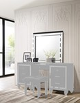 Valentino Vanity Table Mirror (Bulbs Not Included)-Black