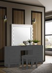 Valentino Vanity Table Mirror (Bulbs Not Included)-White
