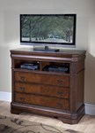 Sheridan Media Chest - Burnished Cherry