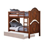 Twin/Twin Bunk Bed, Cherry