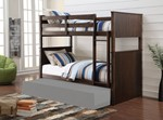 Twin/Twin Bunk Bed, Antique Charcoal Brown