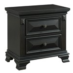 Picket House Furnishings Trent 2-Drawer Nightstand in Antique Black