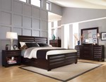 2pc Bedroom Set w/King Storage Bed
