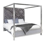 6/6 Silver Leaf Canopy Bed - Headboard