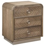Cascade 3 Drawer Nightstand