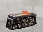 Ashley Furniture Kelton Espresso Cocktail Table With 2