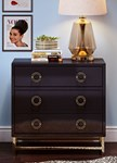 TOV Furniture Majesty Black Chest with Gold Base