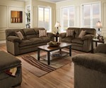Simmons Upholstery Harlow Chestnut Chair
