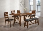 6pc Dining Room Set (Table, Chair, Bench)