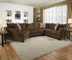 Albany Chestnut Sectional ( LAF and Wedge )